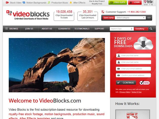 無料のアフターエフェクトテンプレート「ビデオブロックス」